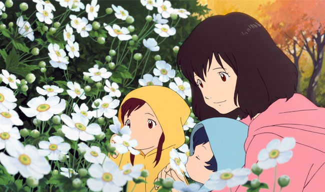 Wolf Children anime review 2